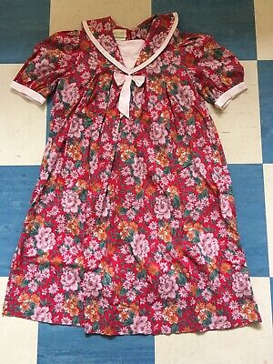 Laura Ashley Vintage Girls Dress Mother And Child Floral Collar Age 9-10 Years