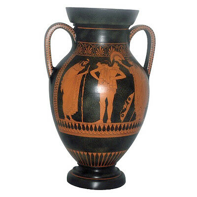 Ancient Greek Amphora Vase Pottery Museum Replica Reproduction