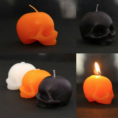 Skull Candle Black Halloween Decorations Home Haunted House Cosplay Supplies FS