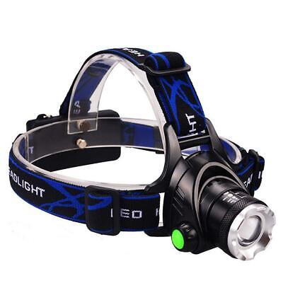 12000LM Zoom X-XML T6 LA² 18650 Headlamp Torch Headlight Rechargeable Lamp *A²