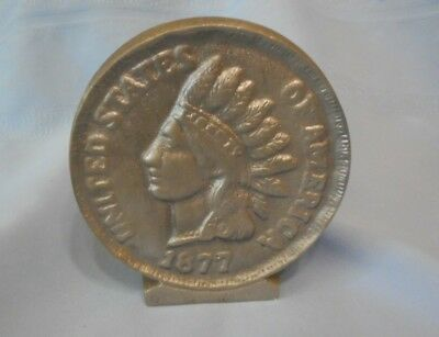 1877 Indian Head One Cent Penny Bank USA