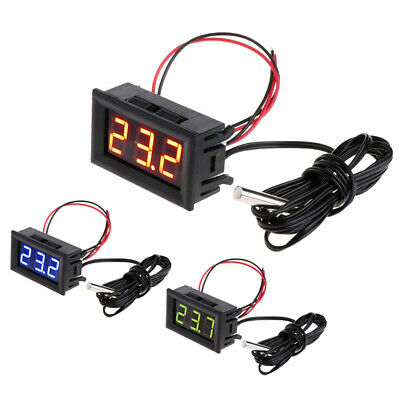 Digitales 12V LED Temperaturüber Wachung Thermometer Mit Temperatursonde Probe