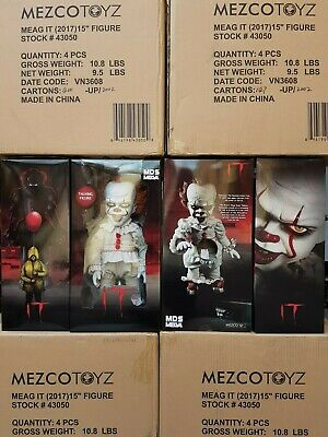 "Mezco Toyz IT Pennywise Clown Movie Mega Scale Talking 15"" Action Figure WC43050"