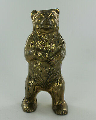 """Vintage Bear Standing on Hind Legs Bank - Brass - 5.75"""" Tall"""