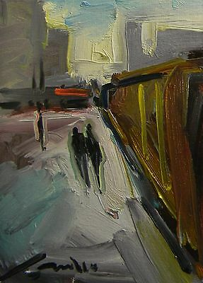 Jose Trujillo New Oil Painting Impressionist Modern Abstract Art Street 9X12
