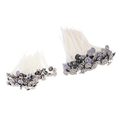 100x Candle Wicks for Candle Natural Cotton Core Wicks Sustainers 12cm 8cm