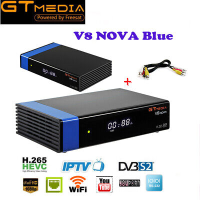 DVB-S2 H.265 built-in WIFI Decoder Gtmedia Satellite Receiver 1080P FTA V8 Nova