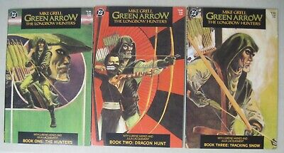 Complete Set Of Green Arrow Longbow Hunters #1-3 Dc Comics Limited Series