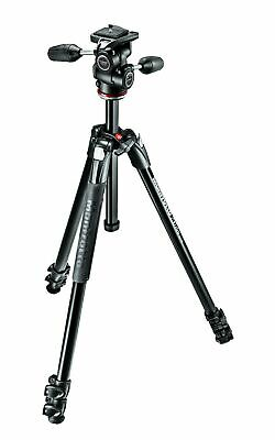 Manfrotto 290 XTRA Kit, Aluminum 3-Section Tripod with 3-Way Head (MK290XTA3-...