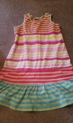 c3b714aca727 GIRL'S HANNA ANDERSSON MULTI-COLORED Sleeveless Striped Dress Size 130 8  flaw