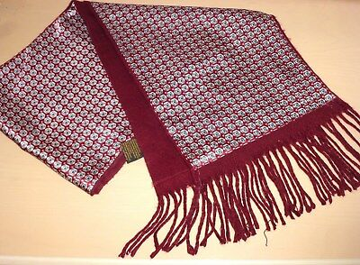 Vintage Reversible Scarf Cravat Dapper Mod Scooter Indie Goodwood Ascot 60s 70s