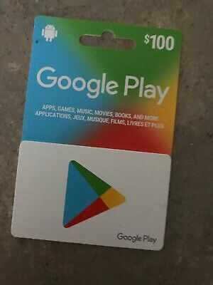 Google Play Gift Cards 100$ Canadian