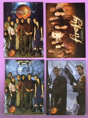 Serenity/Firefly Lot of 4 Different Promo Cards (Inkworks)