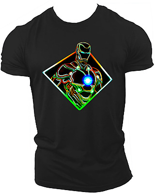 Ironman Avengers Infinity War End Game Marvel Endgame Unisex T-Shirt Neon32