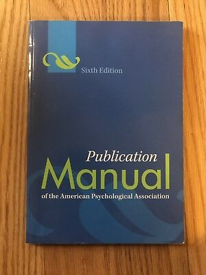 APA Publication Manual of the American Psychological Association, 6th Edition
