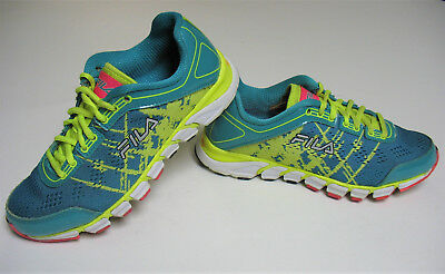 Fila RN91175 Women's Sport Athletic Running Sneakers Shoes Green Yellow Pink 6.5