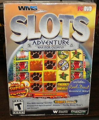 New Sealed WMS Slots Adventure: War for Olympus (PC, 2013)v2