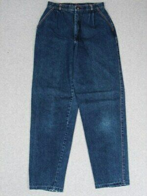 IH21442 VERY COOL VINTAGE 1970s **HIGH WAISTED** WOMENS JEANS; DARK!