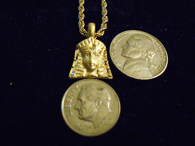 bling gold plated myth legend egypt queen Charm Pendant hiphop Necklace JEWELRY
