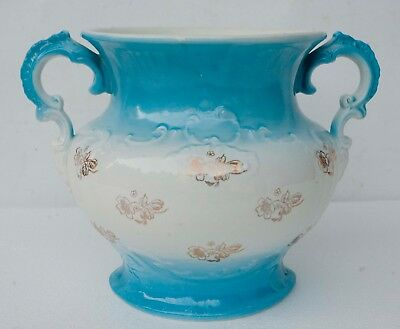 Large Antique Homer Laughlin Chamber Pot Gold Floral Pattern RARE Early 1900s