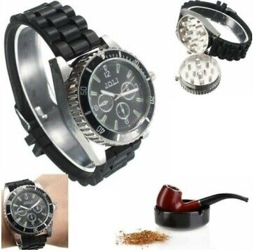 Metal Grinder Tobacco Watch Spice Crusher Herb Wrist For Grinding