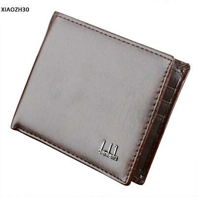 Fashion Men's Slim Leather Bifold ID Credit Card Holder Billfold Purse Clutch