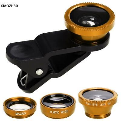 3in1 Clip Fish Eye Macro Wide Angle Lens Camera kit for iPhone/Samsung Cellphone