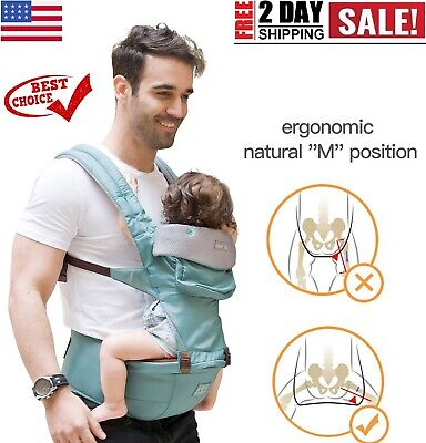 360 Ergonomic Baby Carrier with Hip Seat - Baby Backpack Carrier for Baby Sling