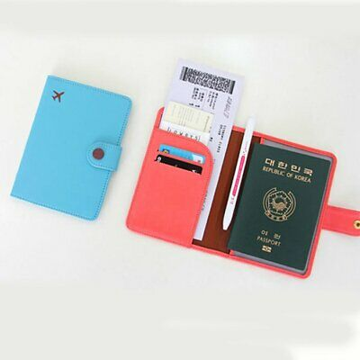 Premium Fabric Travel Wallet RFID Blocking Anti Scan Long Passport Holder YS