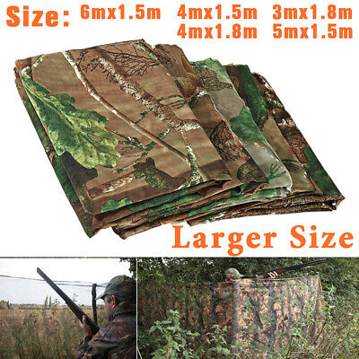 Oxford Fabric Camouflage Net Camo Net Netting Hunting Shooting Hide Army 5 Sizes