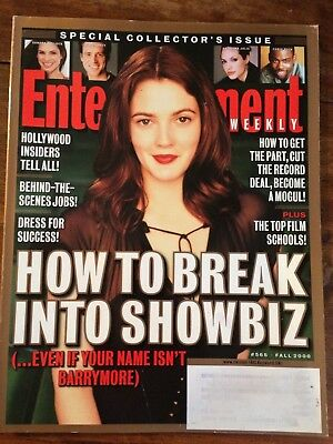 ENTERTAINMENT WEEKLY magazine DREW BARRYMORE Special showbiz issue