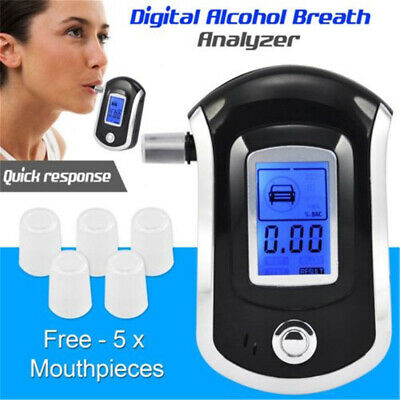 Portable Digital LCD Breathalyzer Breath Test Alcohol Tester Analyzer Detector Y