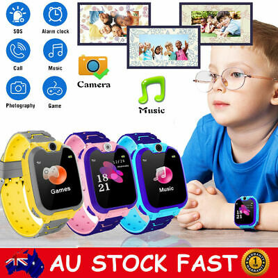 GSM SIM Smart Watch Phone Touch Screen Camera Games Alarm SOS for Kids Children