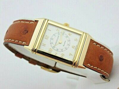 Jaeger LeCoultre Reverso Classique 18 kt gold manual 1410011 box&papers serviced