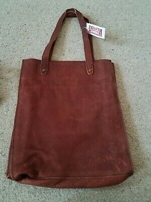 8b302ccdfa35e Duluth Trading Company chocolate Brown lifetime leather tote bag new with  tag