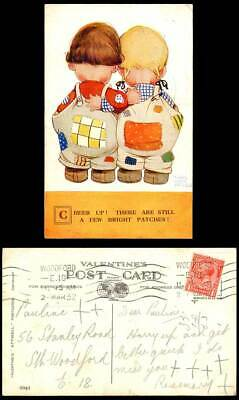 MABEL LUCIE ATTWELL 1932 Old Postcard Cheer Up! Still a Few Bright Patches. 2041