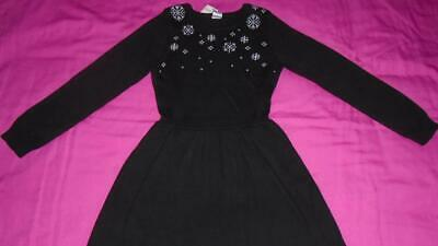 3ae6d1cfe9a NEW Girls Size 6 Gymboree Outlet Sweater Dress Black w  Snowflakes 2018  Line NWT