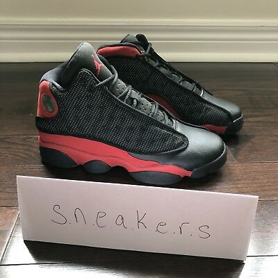 official photos 82a5f c61b1 NIKE AIR JORDAN XIII 13 RETRO GS BRED BLACK TRUE RED WHITE Size 5.5Y DS