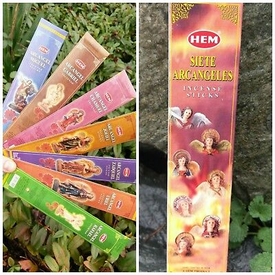 Two (2) HEM 7 ARCHANGEL Incense Lots 70 Sticks Total Reiki Charged Bulk Healing