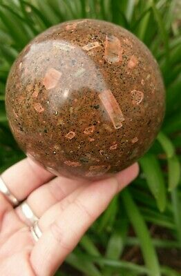 Large 75mm Spotted JASPER Sphere Crystal Reiki Charged Healing 1LB 4oz **READ**