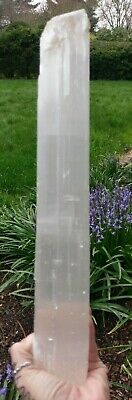 "XL!! 15.25"" SELENITE ""Charging"" Log Raw Crystal Stone Reiki Charged 2 LB 10oz!!"
