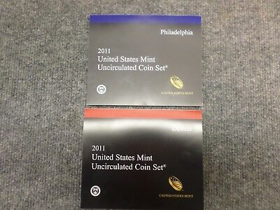 2011 United States Mint Uncirulated Coin Set P & D