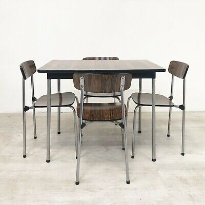 Vintage Tavo Of Belgium Mid Century 1950S Dining Table & Chairs In Rosewood Form