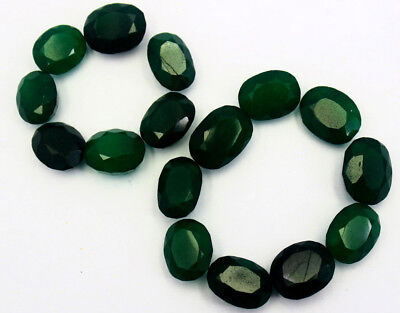 200Ct Or 16Pcs EGL Certified Natural Oval Cut Green Emerald Gemstone Lot AZ2393