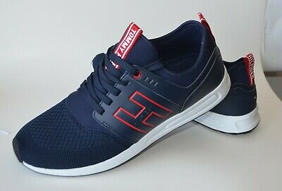 4a0ce292fa6 TOMMY HILFIGER MEN Athletic Shoes Color Red & Blue White Red Stripe ...