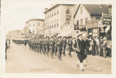 WWII 1941 Vermont National Guard  in Parade  downtown Burlington, VT  Photo #6