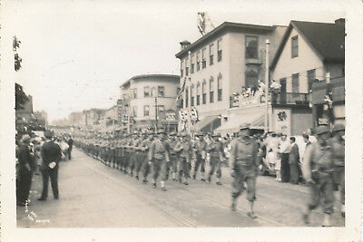 WWII 1941 Vermont National Guard  in Parade Burlington, VT  Photo #4