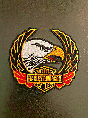 Harley Davidson Classic Bald Eagle Embroidered Patch Retired