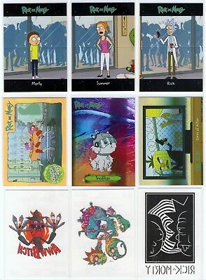Rick and Morty season 1 Convention Exclusive insert set - 9 cards CB10, SS10 ++