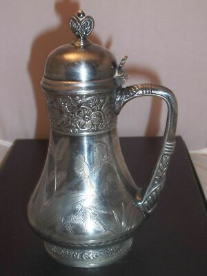 Simpson Hall Miller Silverplate Syrup Pitcher Birds
